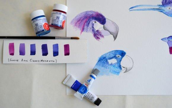 Você sabe a diferença entre a tinta guache e aquarela?