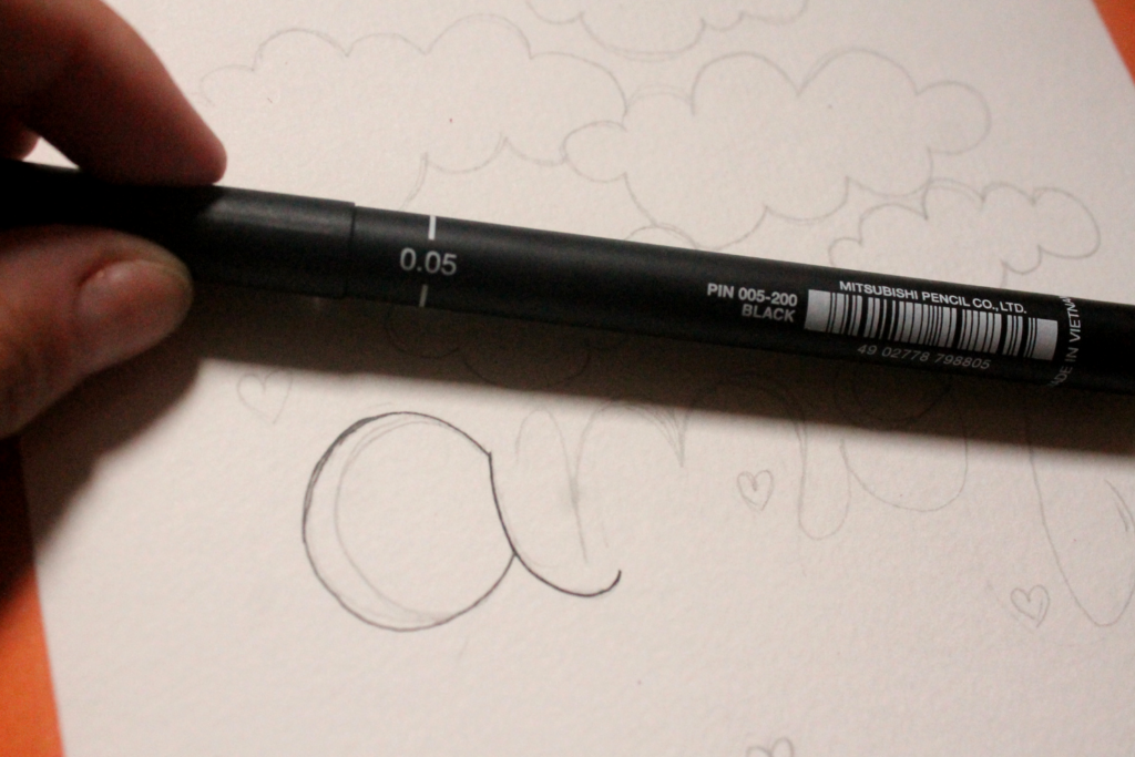 Lettering simples