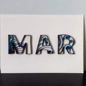 Lettering com textura em papel